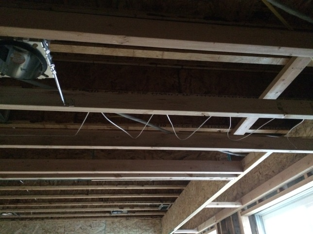 Speaker cabling in the celing