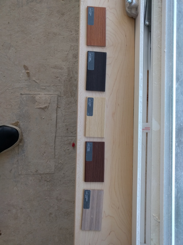 Window sills; with the choices for the blinds