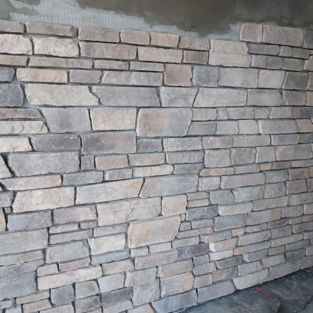 Stonework for the front patio